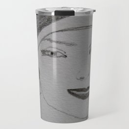 the woman in the beret Travel Mug