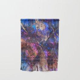 Blue Rainbow Oil Slick Crystals Wall Hanging