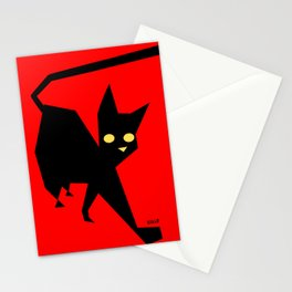 The Strut (Black Cat) Stationery Cards
