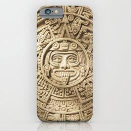 AZTEC CALENDAR MEXICO ART iPhone Case