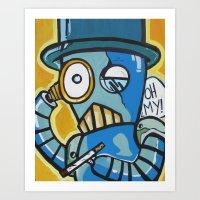 Monacle Bot Art Print