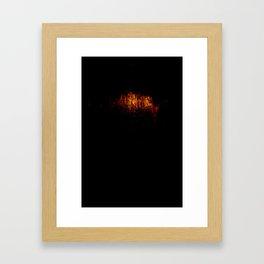 amber Framed Art Print