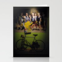 tour de france Stationery Cards featuring tour de france by Emanuele Reina