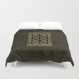 Web of Wyrd  -The Matrix of Fate Duvet Cover