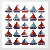 My Little Sail Boat. Art Print