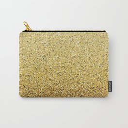 Gold Ombre Glitter Carry-All Pouch