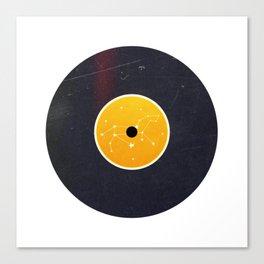 Vinyl Record Star Sign Art | Leo Canvas Print
