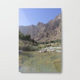 Wadi Tiwi, Oman Metal Print