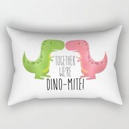 Together We're Dino-mite! Rectangular Pillow