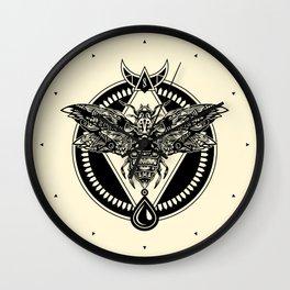 Zodiac Moth Light Wall Clock