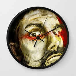 Beard over red Wall Clock