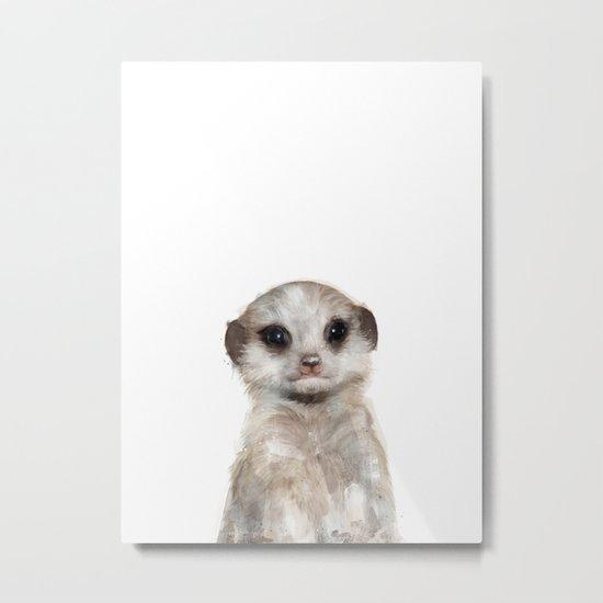 Little Meerkat Metal Print