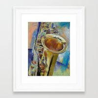 saxophone Framed Art Prints featuring Saxophone by Michael Creese