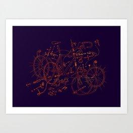 Exploded Diagram Art Print