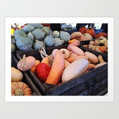 Autumn Market Art Print
