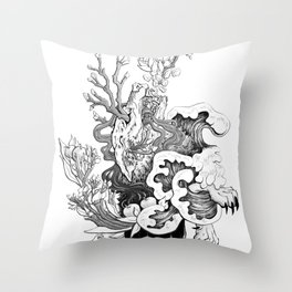 Fairytale : The Devourer Throw Pillow
