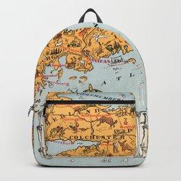 1929 Vintage Map of Nova Scotia Backpack