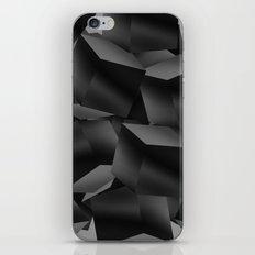 Black Fade Cubes iPhone Skin