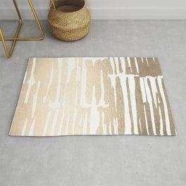 White Gold Sands Bamboo Stripes Rug