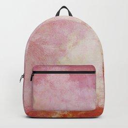 Burgundy red beige splashed Backpack