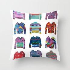 Sweater Poster Throw Pillow
