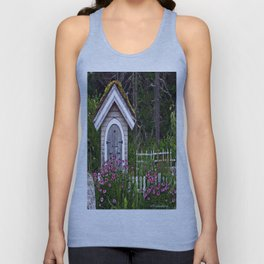 Country Flower Shed Unisex Tank Top