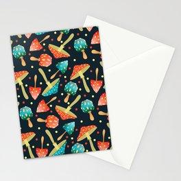 Bright mushrooms Stationery Cards