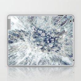 AERIAL. Frozen forest in winter Laptop & iPad Skin