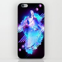 christ iPhone & iPod Skins featuring Cosmic Christ by Matt Bryson