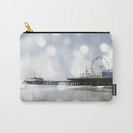 Sparkling grey Santa Monica Pier Carry-All Pouch