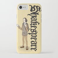 shakespeare iPhone & iPod Cases featuring Shakespeare 2  by Matthew Morris