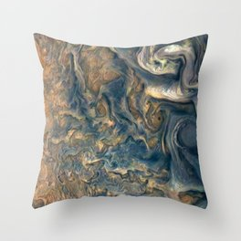 Surface of Jupiter Atmosphere Telescopic Photograph Throw Pillow