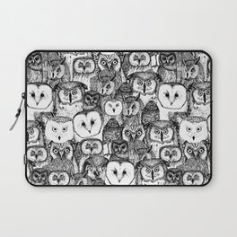 just owls black white Laptop Sleeve