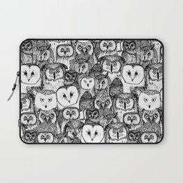 just owls black white Laptop Sleeve