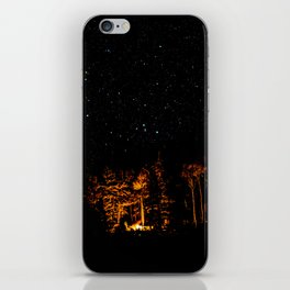 Campfire on a Starry Night iPhone Skin