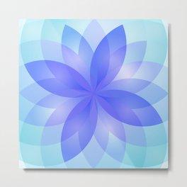 Abstract Lotus Flower G303 Metal Print
