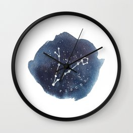 pisces constellation zodiac Wall Clock