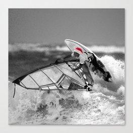 surf santa - wind surf Canvas Print