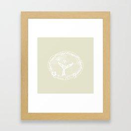 Vintage Lahaina Please White Whales Tail Framed Art Print