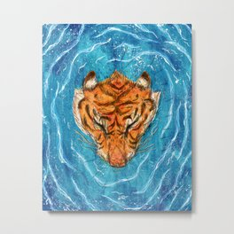 Tigress River Metal Print