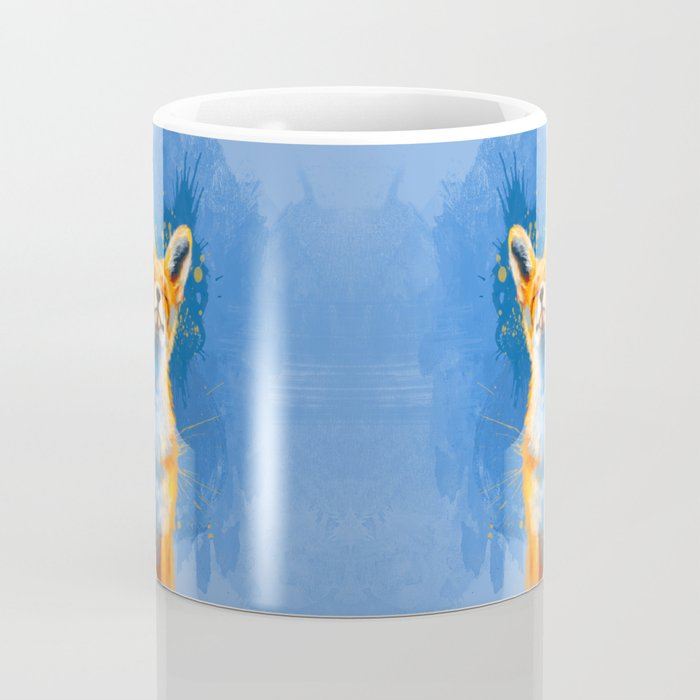 Happy Fox, inspirational animal art Coffee Mug