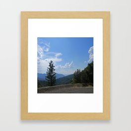 Gorgeous view of the Hayfork valley.... Framed Art Print