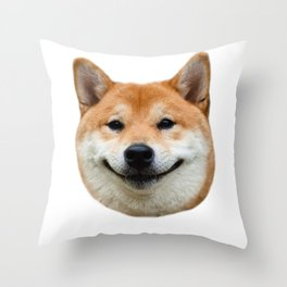 Shiba Smile Throw Pillow