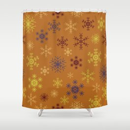 Cute Modern Christmas Snowflakes Repeating Seamless Pattern Shower Curtain