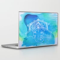 hindu Laptop & iPad Skins featuring Untitled (Elephant) by Aries Art
