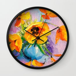 Bouquet of tulips Wall Clock