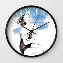 Vogue Fashion Illustration #18 Wall Clock