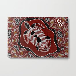 Authentic Aboriginal Art - Turtle Dreaming Metal Print