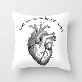 Amor non est medicabilis herbis Throw Pillow