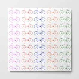 Bike 2, Vector, Design Metal Print